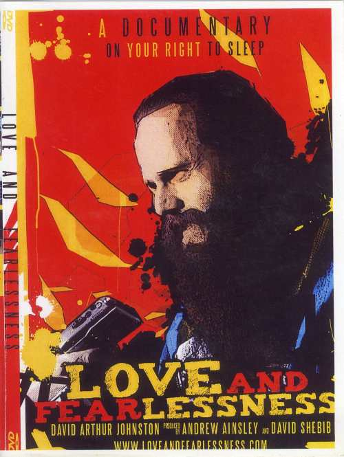 Cover of 'Love and Fearlessness', a video on the homeless in Victoria