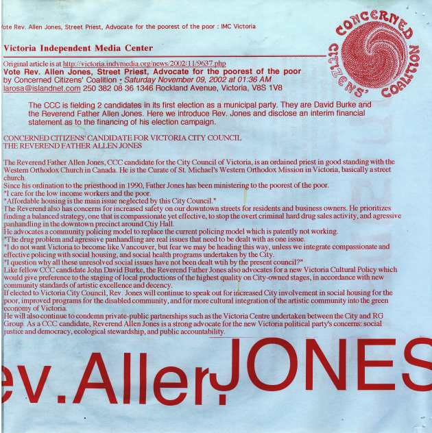 DETAIL OF 2002 CCC POSTER FOR REVEREND FATHER ALLEN JONES