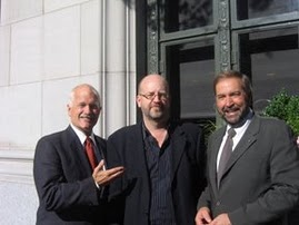 NDP Leader Jack Layton, new Outremont NDP MP Thomas Mulcair & Bill Tieleman